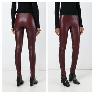 THEORY 100% Lamb Leather Leggings, 8